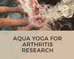 people with their hands in water to illustrate aqua yoga for arthritis research