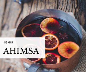 pot of mulled wine to illustrate the yoga principle of ahimsa