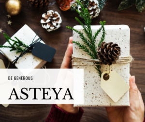 a christmas present illustrating the yoga concept of asteya