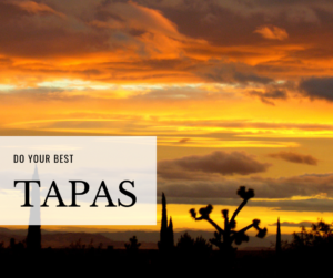 a desert sunset illustrating the yoga concept of heat or discipline called tapas