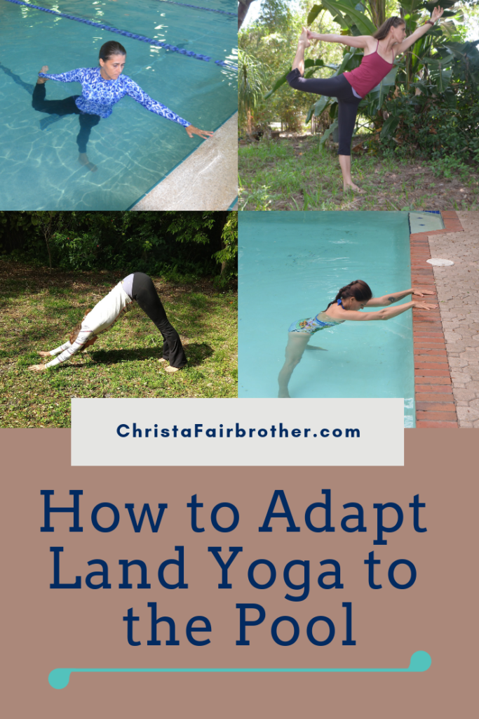 comparing land yoga to aqua yoga