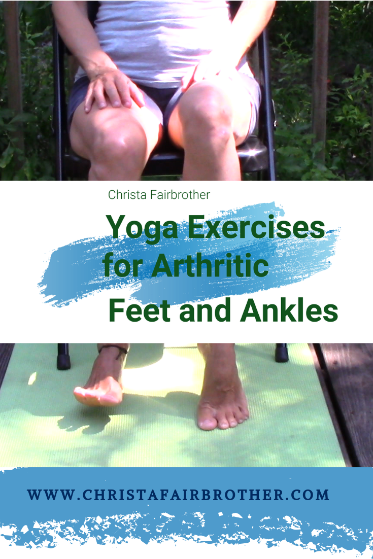 Woman doing Exercises for Foot and Ankle Arthritis in a chair