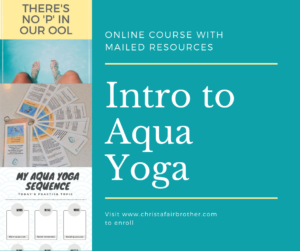 picture of the physical products you receive during the intro to aqua yoga online course