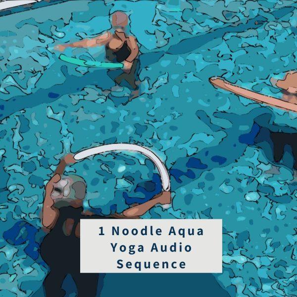 illustration for Aqua Yoga Audio Sequence - 1 Pool Noodle