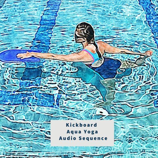 illustration for aqua yoga audio sequence - kickboard
