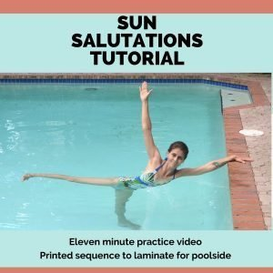 illustration for aqua yoga sun salutations tutorial