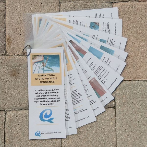 product picture of laminated aqua yoga sequence-wall & steps