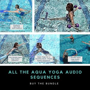 graphic for aqua yoga audio sequences