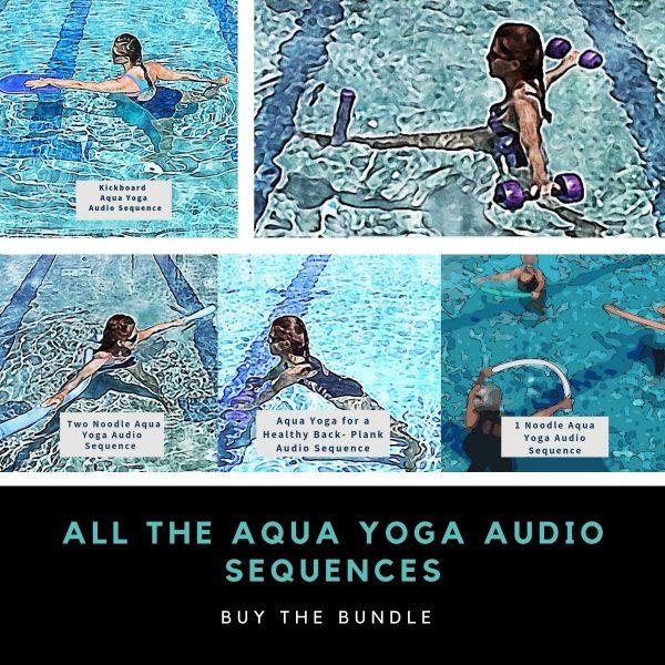 graphic for aqua yoga audio sequences