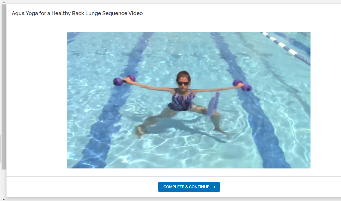 video sample for the aqua yoga online certification