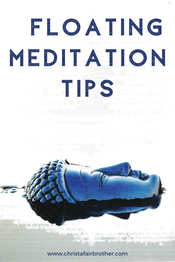 Buddha sculpture floating horizontally in water to illustrate floating meditation tips