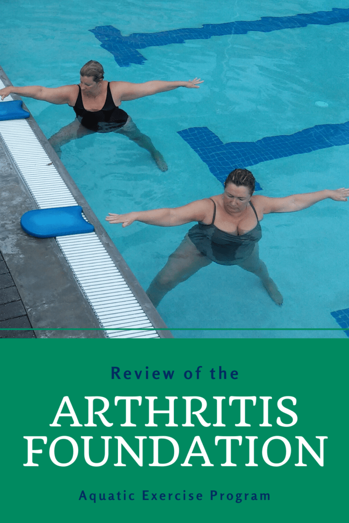 women in the pool doing aquatic exercise with arthritis in support of a review of the arthritis foundation aquatic exercise program