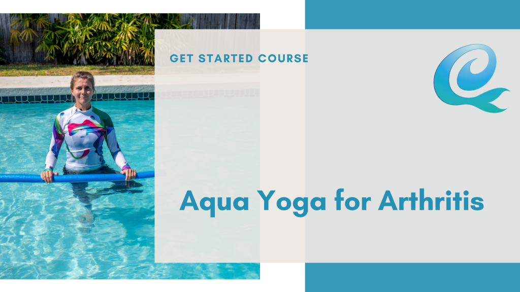 cover slide for the aqua yoga for arthritis course