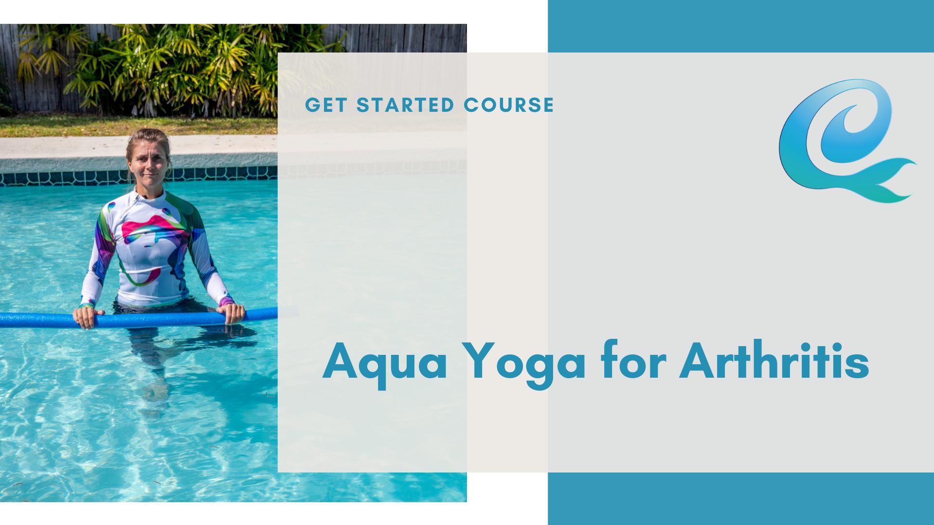 cover slide for the aqua yoga for arthritis course